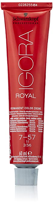 Oferta amazon: Schwarzkopf Igora Royal - Tinte Permanente, Tono 7-57 - 60 ml