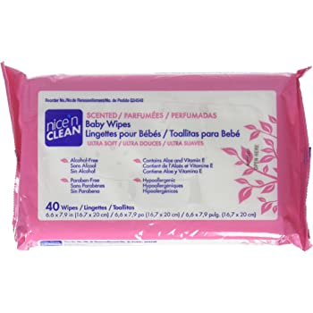 PDI NICE N CLEAN BABY WIPES Scented Baby Wipes, 40/pk, 12 pk/cs