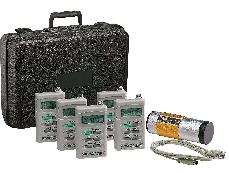 Extech 407355 KIT 5 Noise Dosimeter Datalogger Kit with 5 Dosimeters