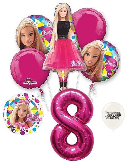Amazon.com: 8th cumpleaños Barbie decoraciones de fiesta ...