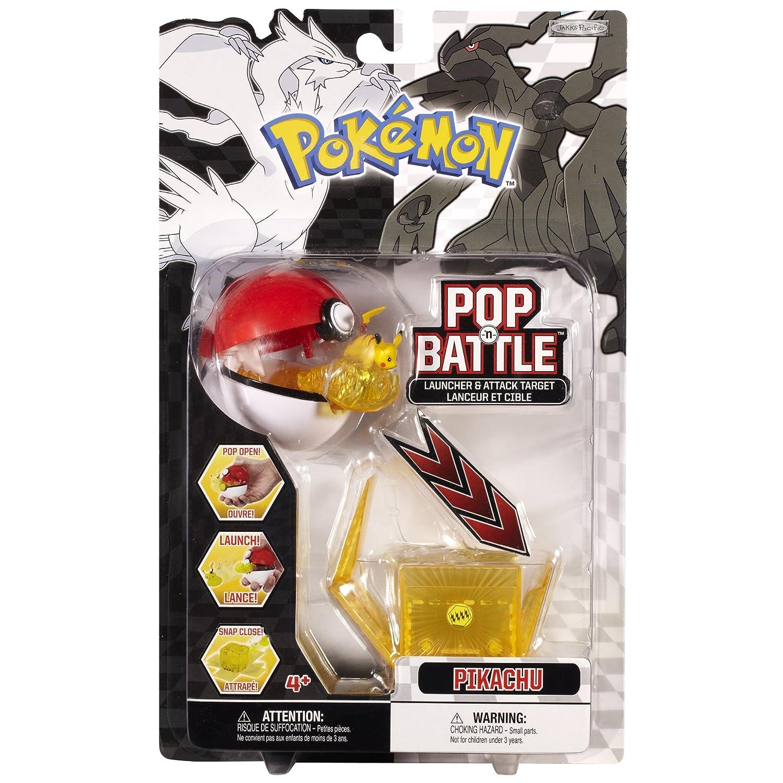 Pokemon Pop 'n Battle Launcher With Attack Target B&W Series  1 Pikachu