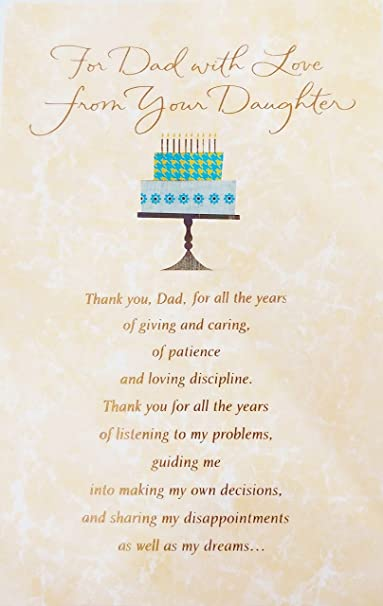 Amazon for dad with love from your daughter happy birthday amazon for dad with love from your daughter happy birthday greeting card i am who i am because of all youve done and been for me stopboris Image collections