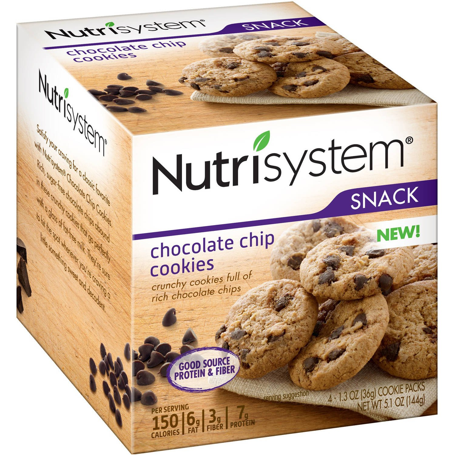 Nutrisystem Snack Chocolate Chip Cookies, (24 Packets of Cookies ) by Nutrisystem (Image #2)