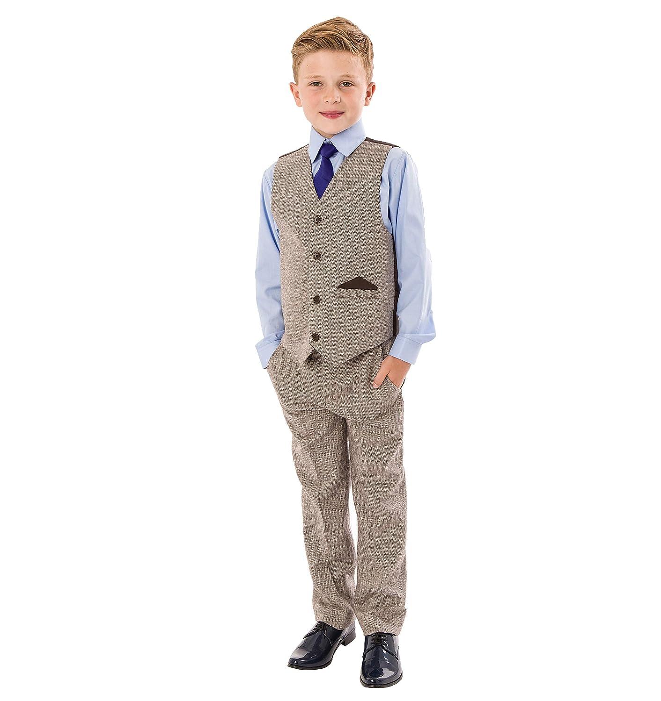 per bambini; per matrimoni per fare il paggetto da festa Tuta da bambino in tweed 4 pezzi 0-3 mesi a 12 anni