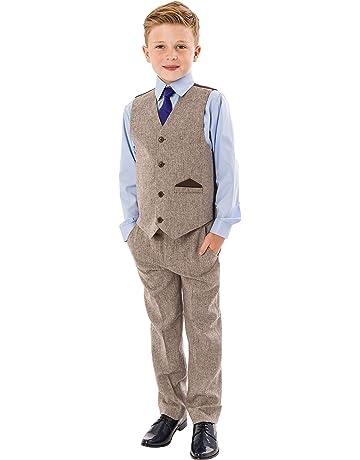 Light Grey Kid/'s Custom Made Wedding Groom Tuxedos Boys Children Party New Suits