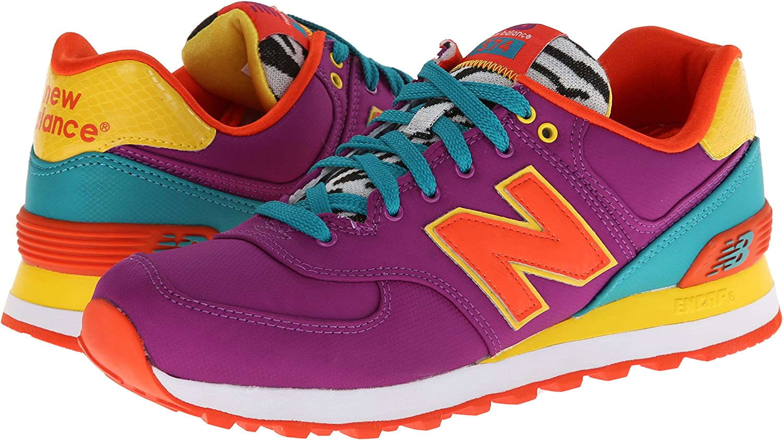 vistazo Viscoso Carteles  Amazon.com | New Balance Women's WL574 Pop Safari Pack Runner Sneaker |  Running