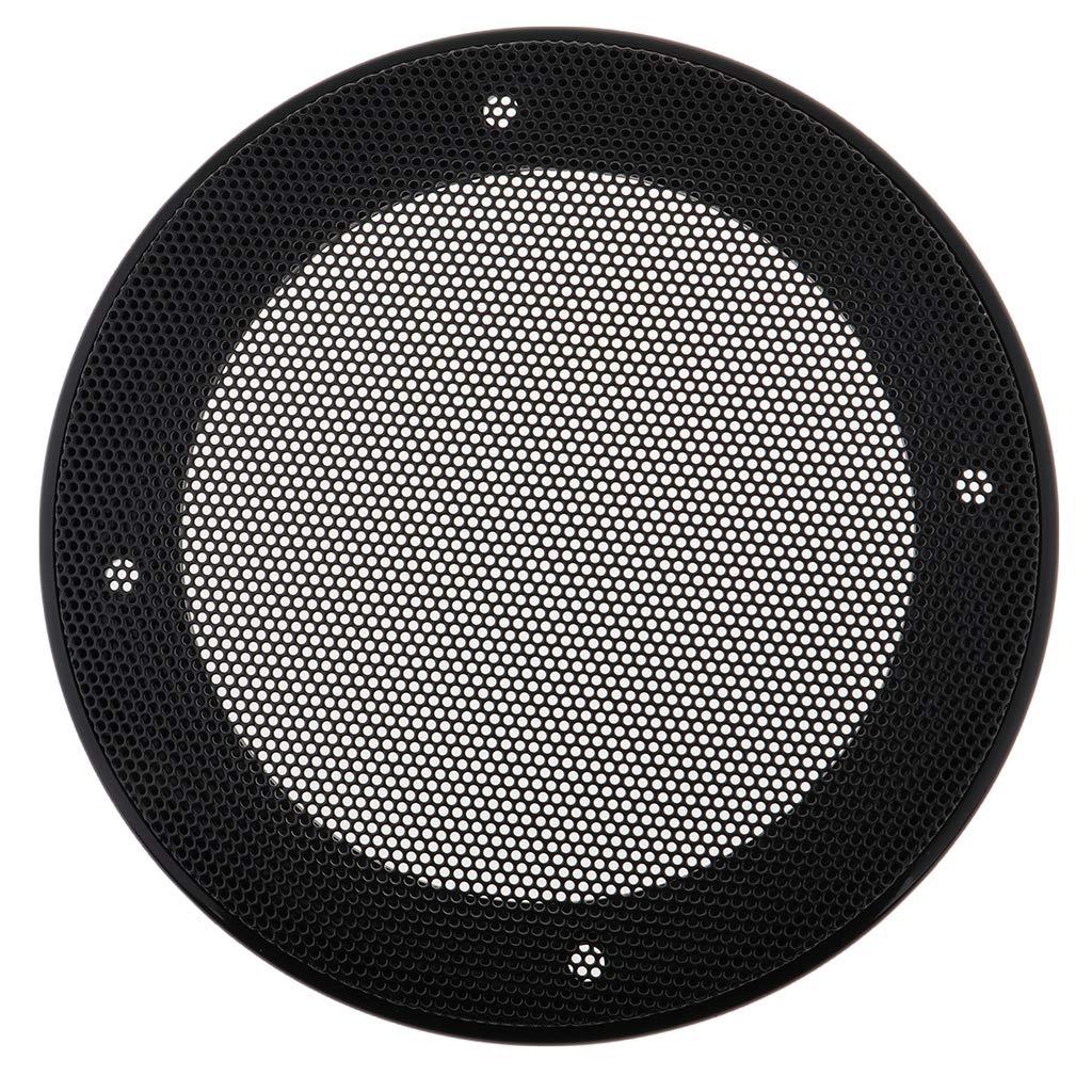 Heimlautsprecher oder Autolautsprecher IPOTCH Lautsprecher Gitter f/ür Lautsprecherboxen Schwarz 6 Zoll