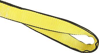 3 Width 2 Ply Mazzella EE2-903 Nylon Web Sling 4 Length 9300 lbs Vertical Load Capacity Eye-and-Eye Yellow 11 Twist Eyes