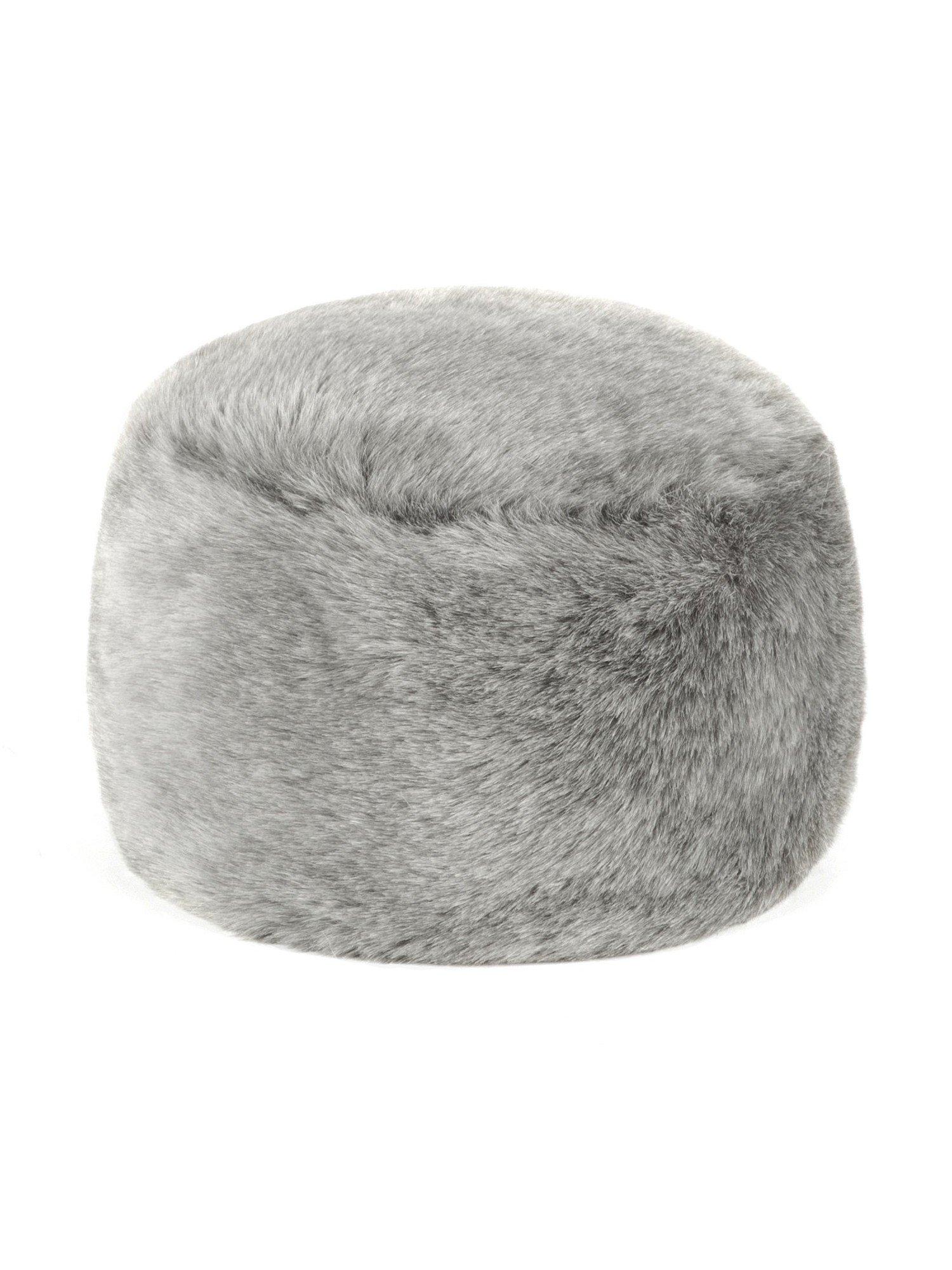 Futrzane Women's Fur Hat Russian Cossack Made of Faux Rabbit Fur (S, Grey)