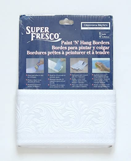Superfresco Paintable Wallpaper Border   Scroll