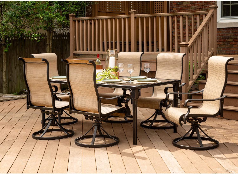 Hanover BRIGDN7PCSWG-6, Tan Outdoor Furniture