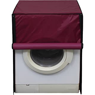 Glassiano Washing Machine Cover for Samsung Fully Automatic Front Load WF652U2SHWQ 6.5 kg Washing Machine, Maroon