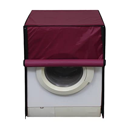 Glassiano Waterproof and dustproof Maroon Washing Machine Cover for LG F10B8NDL25 Fully Automatic Washing Machine Washing Machine Covers