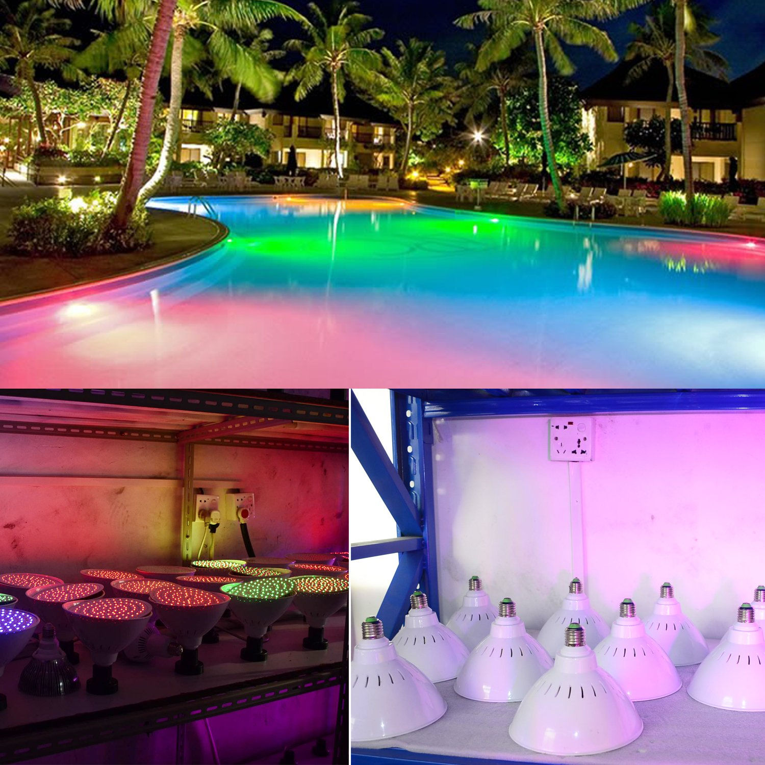 Led Rope Light For Swimming Pool: WYZM 120V 35W Color Changing Swimming Pool Lights LED