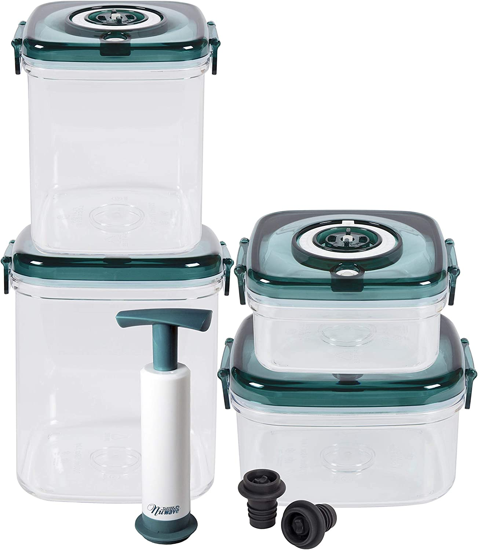 NuWave 11Piece Flavor-Lockers Set, Clear/Green, One Size