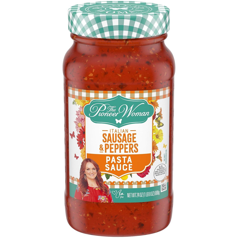 Pioneer Woman Italian Sausage & Peppers Pasta Sauce, 24 oz Jar