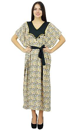 d85d083c01 Bimba Womens Long Caftan Designer Cover Up Kaftan Ladies Night Gown Maxi  Dress at Amazon Women s Clothing store