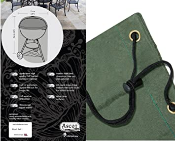 Ascot - Cubiertas para barbacoa barbacoa cubierta poliéster verde 7 años de garantía: Amazon.es: Jardín