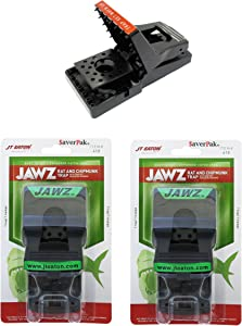 SaverPak 2 Pack - Includes 2 JT Eaton Jawz Rat and Chipmunk Traps for use with Solid or Liquid Baits