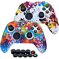 [2 Pack] Jusy Xbox Series X/S Controller Soft Silicone Cover Skin, Sweat-Proof Anti-Slip Case Cover Protective…