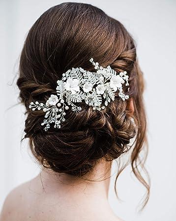 5 GARDENIA FIORE PER CAPELLI piedini razze wedding prom damigelle d/'onore accessori