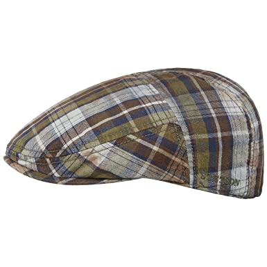 Stetson Paradise Washed Check Flat Cap Cotton Ivy hat  Amazon.co.uk   Clothing bb6862b3b3e