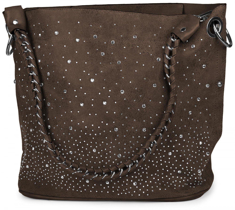 StyleBREAKER Handtaschen Set mit Strass Applikation im im im Sternenhimmel Design, 2 Taschen 02012013 B012GQ5X7K Umhngetaschen Auktion bcda68