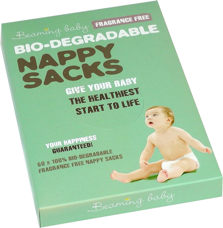 Beaming Baby Fragancia Libre Bolsas para pañales biodegradables ...