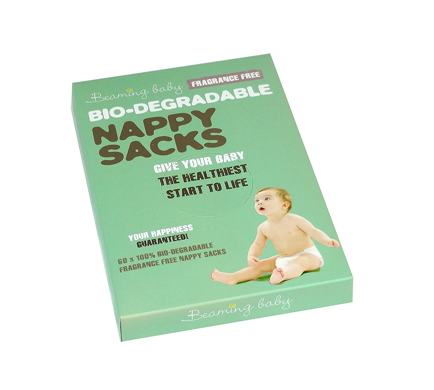 Beaming Baby Fragrance Free Bio-Degradable Nappy Sacks - 60 sacks a pack