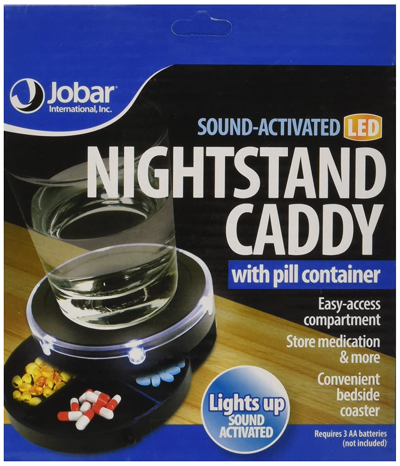 Amazon Sound Activated Nightstand Caddy with Pill Organizer