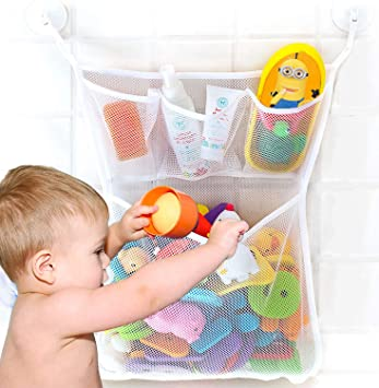 Baby Bath Bathtub Toy Mesh Net Storage Bag Organizer Holder Bathroom Supplies