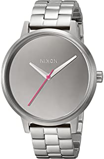 Nixon Womens Kensington Quartz Stainless Steel Casual Watch, Color:Silver-Toned