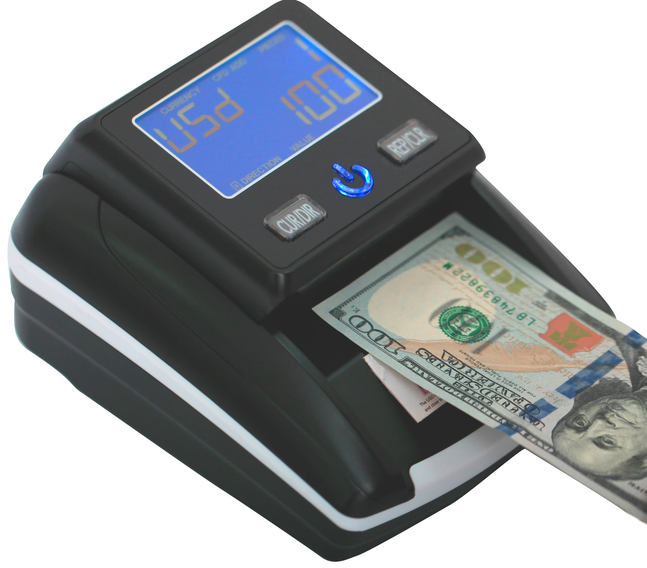 Portable 4 Way Insertion Counterfeit Bill Detector&Counter with Battery by Eko system