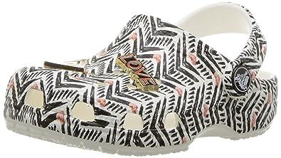 crocs Filles Drew X Classic Clog TRIBAL K SchwarzWeiss