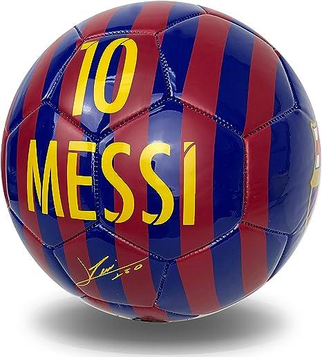 FCB Messi Signature Balón de fútbol tamaño 4, FC Barcelona Messi ...