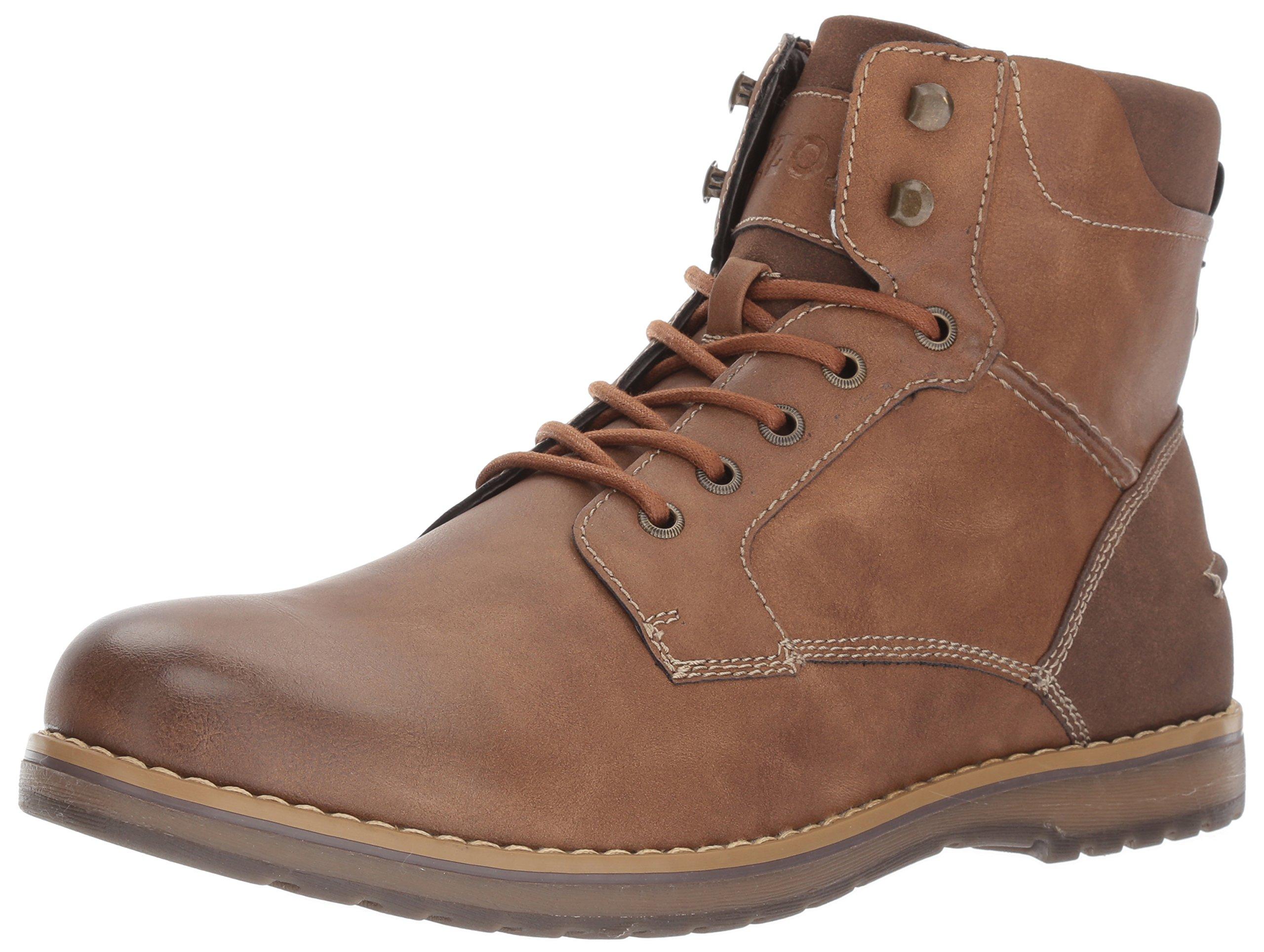 IZOD Men's Leon Ankle Boot, Tan, 11 Medium US