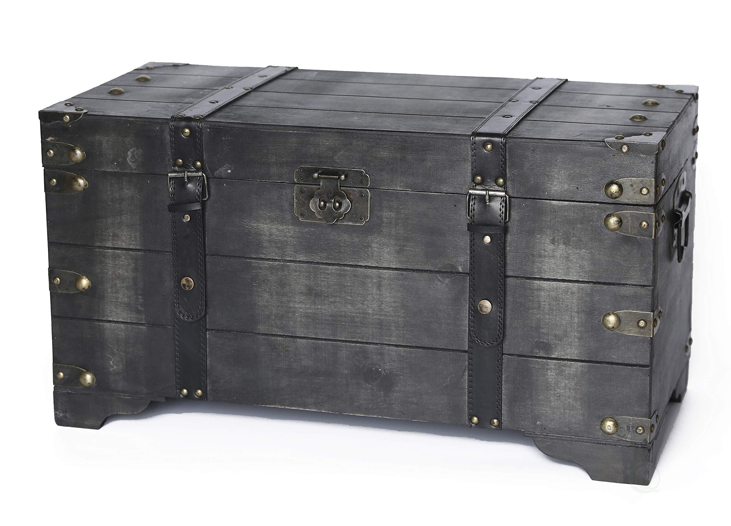 Vintiquewise Storage Trunk, Black by Vintiquewise