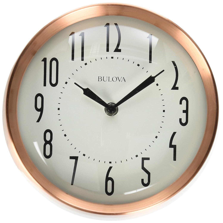 Amazon Bulova Cleaver Wall Clock Copper Home Kitchen