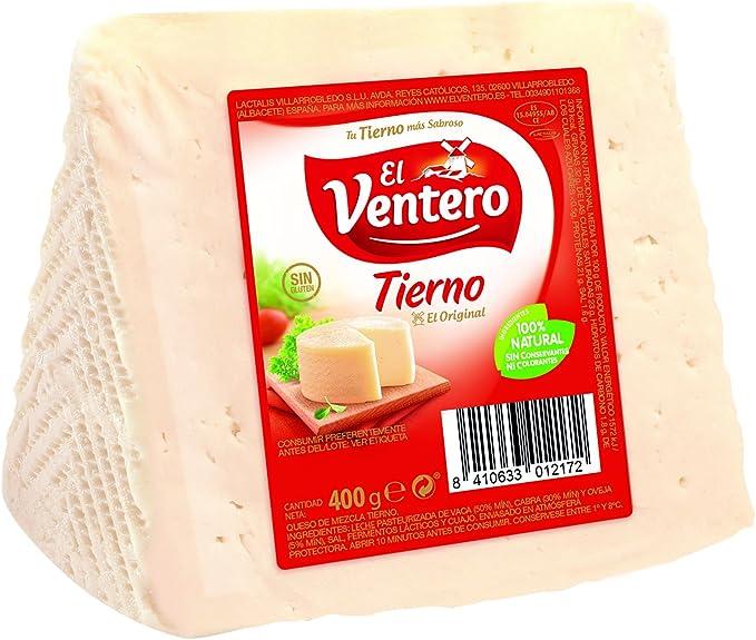 El Ventero Queso Tierno Cuña - 400 gr: Amazon.es ...