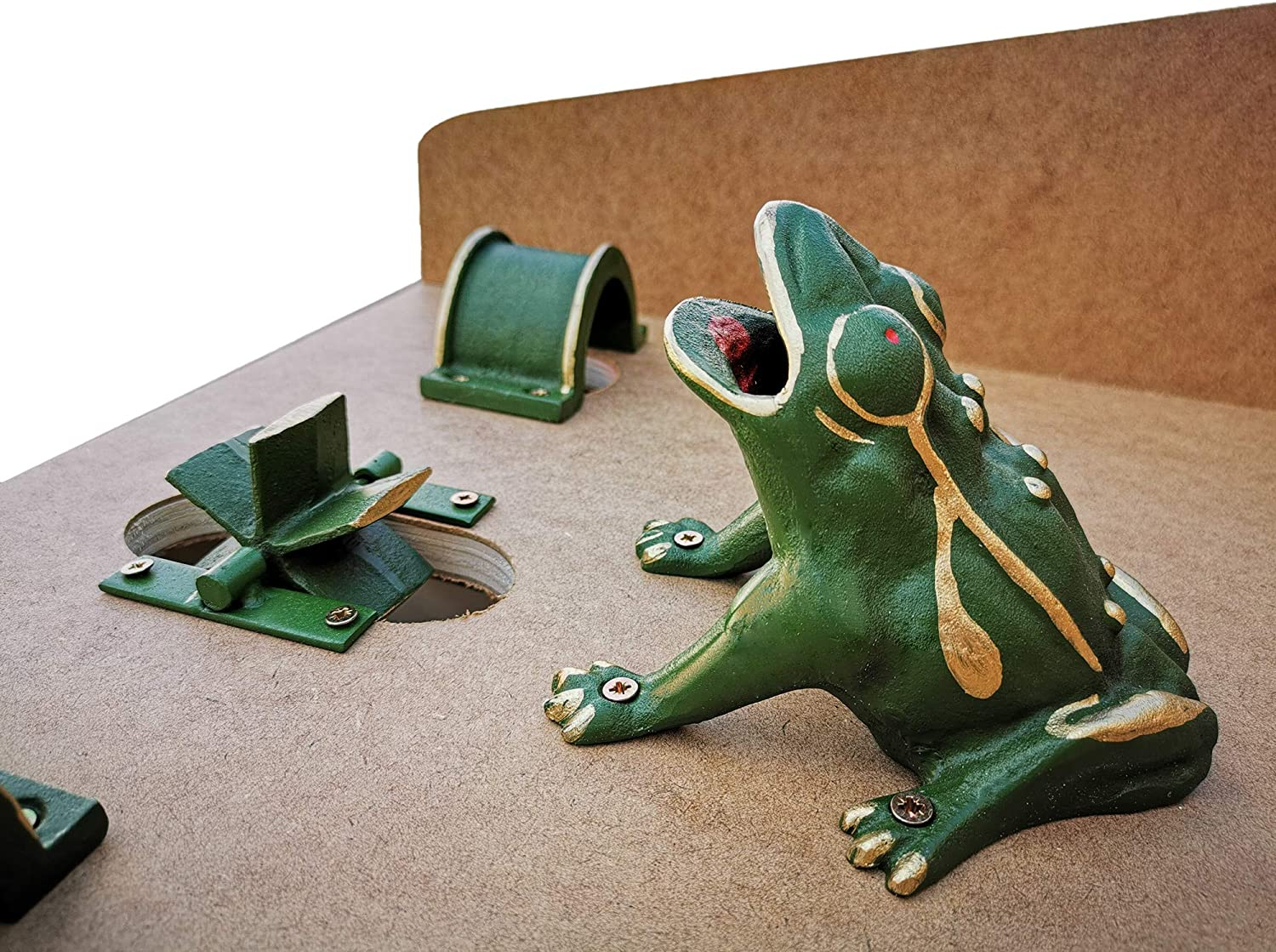 10 steel Tokens wit... Sapo Game// Toad in the Hole Game Frog Game CADENAS ®