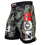 ZOR Camo MMA Fight Shorts Camouflage Pro MMA Shorts UFC Cage Fight Grappling Muay Thai Boxing Kickboxing Army Print Urban Camo Or Green Camo