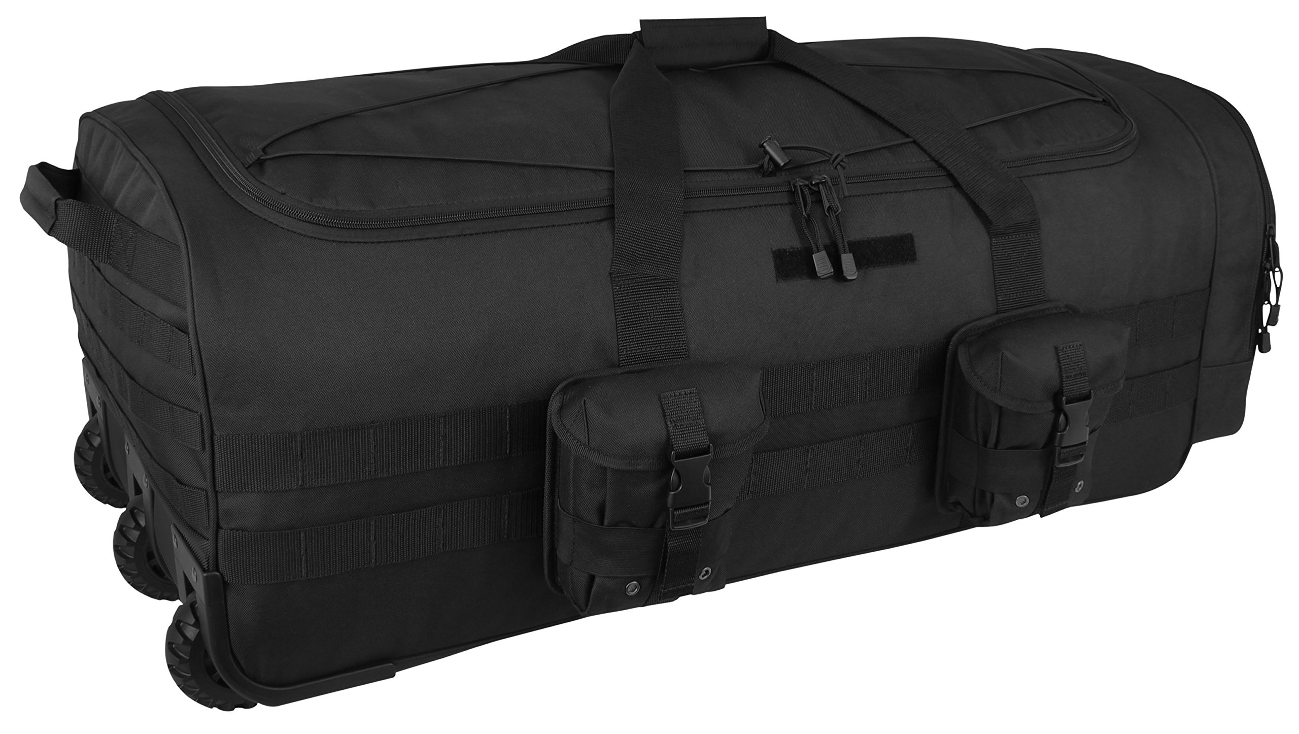 Black Military 38'' Titan Wheeled Duffle