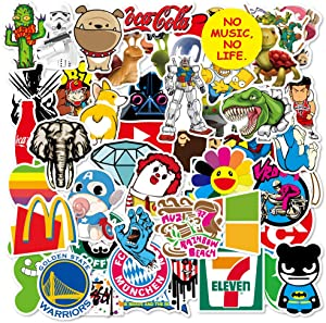 100 Pcs Funny Trendy Non-Repetitive Waterproof Vinyl Stickers for MacBook Laptop Water Bottle Computer Flasks Cooler Phone Refrigerator Car,Cute Decals Stickers Pack for Kids Boys Girls Teens Adults.