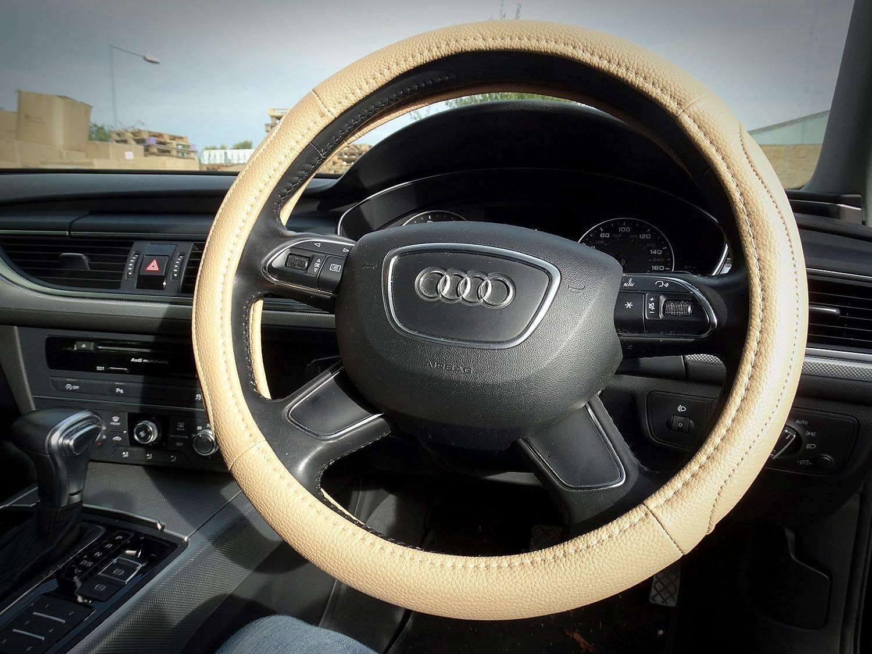 Innova/® Soft Leather Car Cars Steering Wheel Cover Glove 38cm Beige