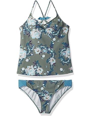 9f4c4d1043872 Roxy Big Girls' Surf The Desert Tankini Swimsuit Set