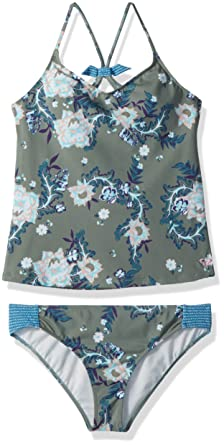 1dde1b8c64 Amazon.com: Roxy Big Girls' Surf The Desert Tankini Swimsuit Set: Clothing