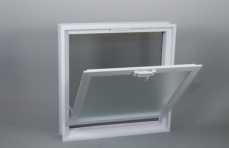 Fen/être basculante pour linstallation dans un mur de briques de verre au lieu de un brique de verre 19x19x8cm