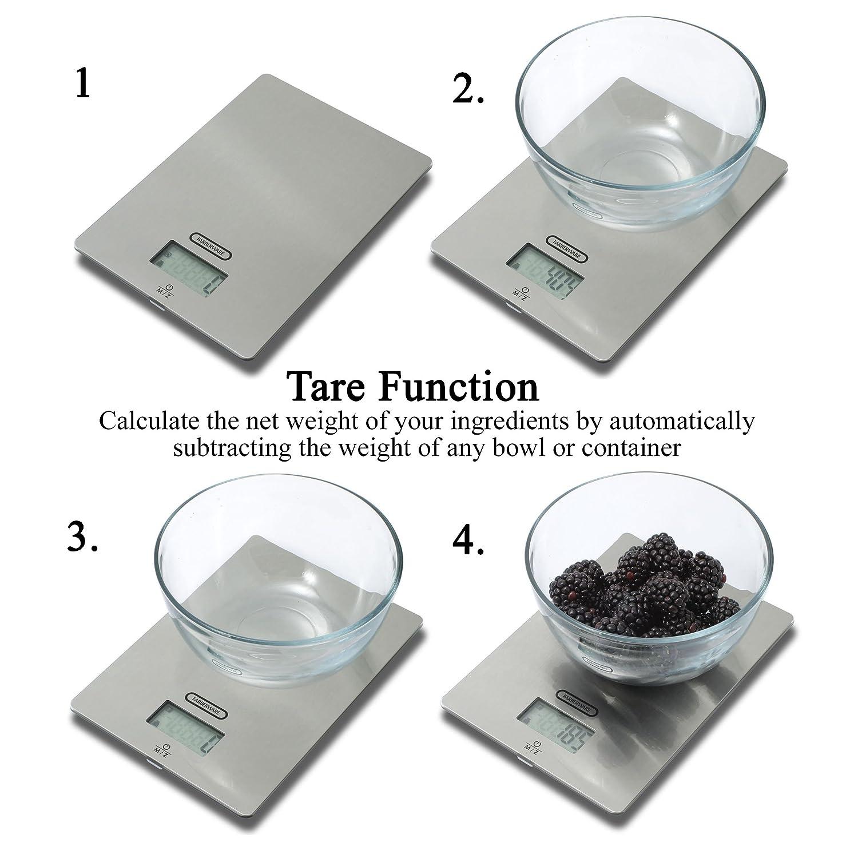 Farberware Pro Parte Superior de Cristal Digital - Báscula de cocina: Amazon.es: Hogar