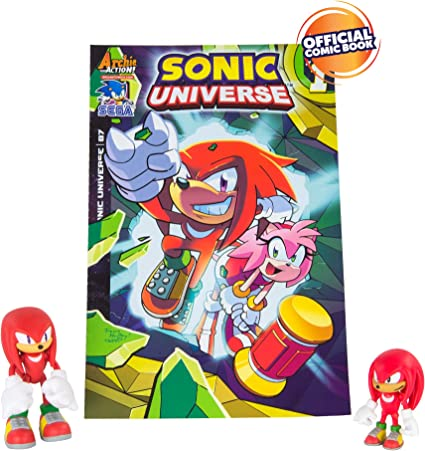 Amazon Com Sonic Tomy Collector Series Action Figures With Comic Classic Knuckles And Modern Knuckles Pack Of 2 Toys Games