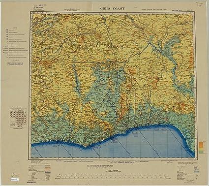Amazon Com Historic Map Ghana 1944 Africa 1 2 000 000 Sheet